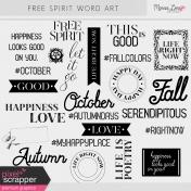 Free Spirit Word Art Kit