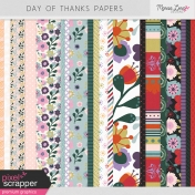 Day of Thanks Papers Kit