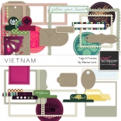 Vietnam Tags & Frames Kit