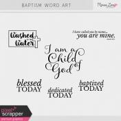 Baptism Word Art Kit