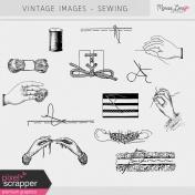 Vintage Images Kit- Sewing
