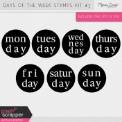 Days of the Week Stamps Kit #3
