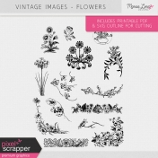 Vintage Images Kit - Flowers