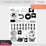 Collage Sheet Kit #1- Travel
