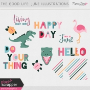 The Good Life: June Illustrations Kit