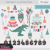 The Good Life: June Birthday Illustrations Kit