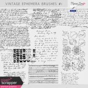 Vintage Ephemera Brushes Kit #1