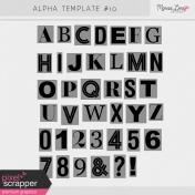 Alpha Template Kit #10