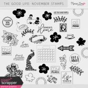 The Good Life: November Stamps Kit