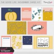 The Good Life: November Pocket Cards Kit