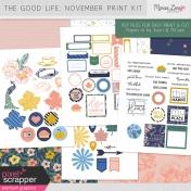 The Good Life: November Print Kit