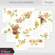 Vintage Rose Ephemera Kit