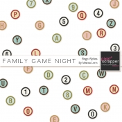Family Game Night Bingo Alphas Kit