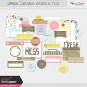 Spring Cleaning Words & Tags Kit