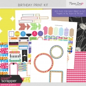 Birthday Print Kit