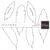 Feather Illustrations Template Kit