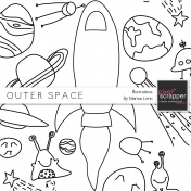 Outer Space Illustrations Kit