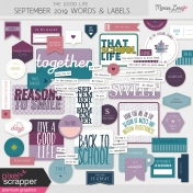The Good Life: September 2019 Words & Labels Kit