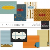 Khaki Scouts Journal Cards Kit