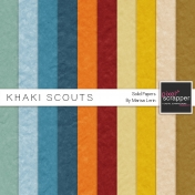 Khaki Scouts Solid Papers Kit