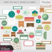 Deck The Halls Words & Labels Kit