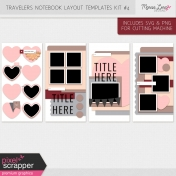Travelers Notebook Layout Templates Kit #4