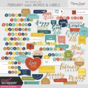The Good Life: February 2020 Words & Labels Kit