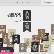 Burlap Word Tags Kit