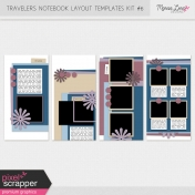 Travelers Notebook Layout Templates Kit #6