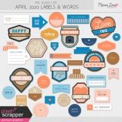 The Good Life: April 2020 Labels & Words Kit