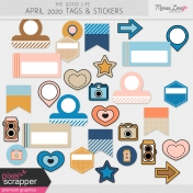 The Good Life: April 2020 Tags & Stickers Kit