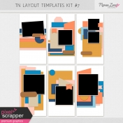 Travelers Notebook Layout Templates Kit #7