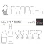 Boozy Illustrations Kit