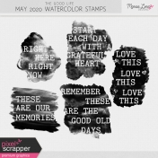 The Good Life: May 2020 Watercolor Stamps Kit