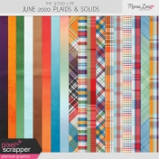 The Good Life: June 2020 Solid & Plaid Papers Kit