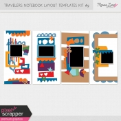 Travelers Notebook Layout Templates Kit #9