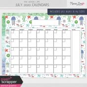 The Good Life: July 2020 Calendars Kit