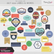 The Good Life: July 2020 Labels & Words Kit