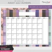 The Good Life: August 2020 Calendars Kit