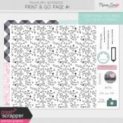 Travelers Notebook Print & Go Page Kit #1