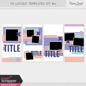 Travelers Notebook Layout Templates Kit #11