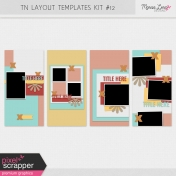 Travelers Notebook Layout Templates Kit #12