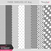 Paper Templates Kit #245