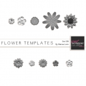 Flower Templates Set #18 Kit