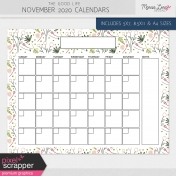The Good Life: November 2020 Calendars Kit