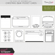 The Good Life: December 2020 Christmas B&W Pocket Cards Kit