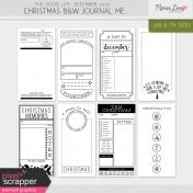 The Good Life: December 2020 Christmas B&W Journal Me Kit