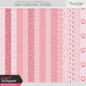 The Good Life: December 2020 Pink Christmas Papers Kit