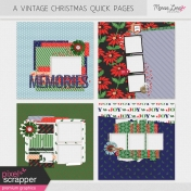 Vintage Christmas Quick Pages Kit