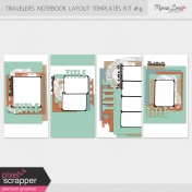 Travelers Notebook Layout Templates Kit #19